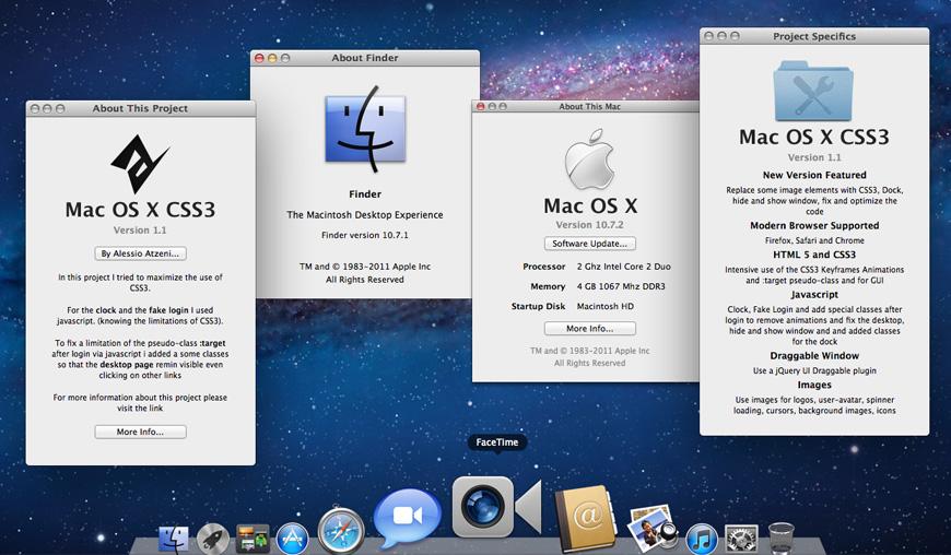 Mac OSX Lion CSS3 - Desktop