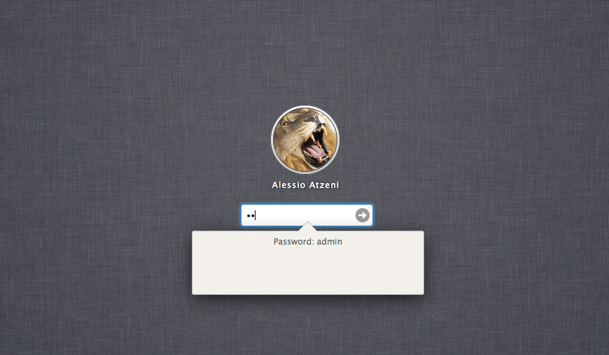 Mac OSX Lion CSS3 - Login
