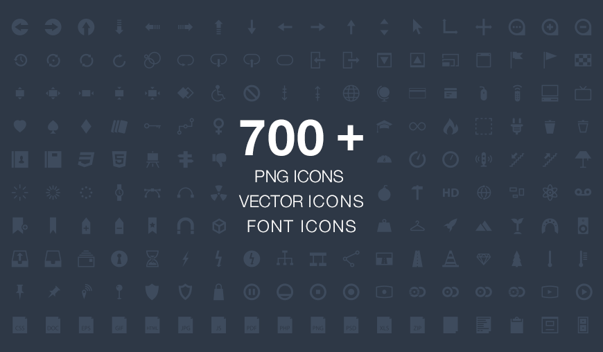 Pyconic Icons, Vector and Font-Face Icons